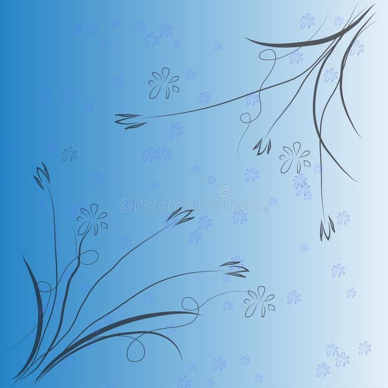 Abstract background flower picture ,vector illustration royalty free illustration