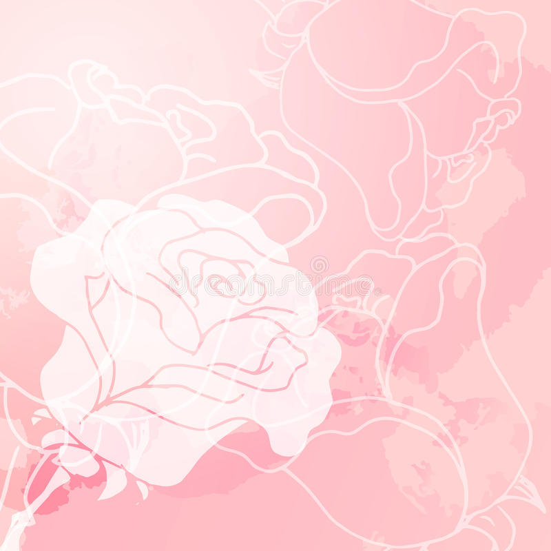Abstract background of flowers vector illustration