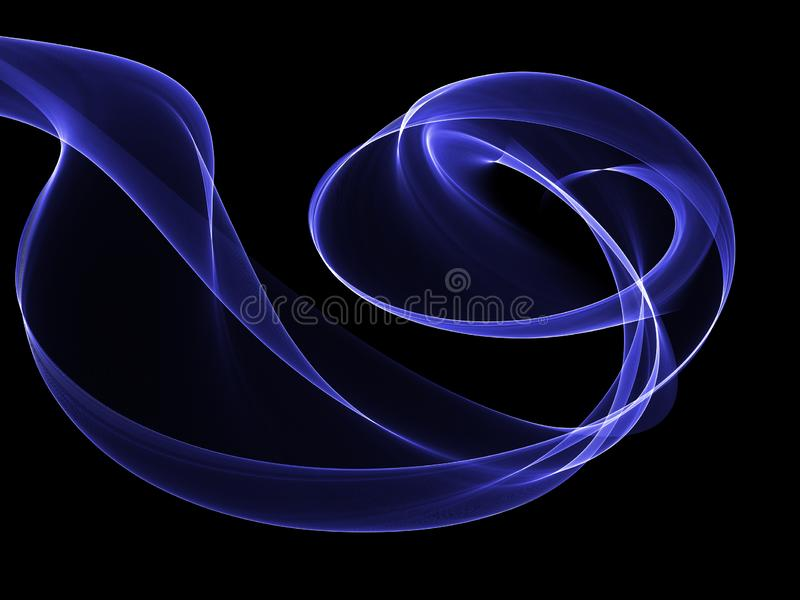 Abstract background with flowing smoke effect royalty free illustration