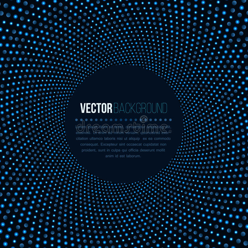 Free Abstract Background For Technology Business. Disco Night Club Blue Lights In Round Shape On Dark Backdrop. 3D Tunnel Stock Image - 90932601