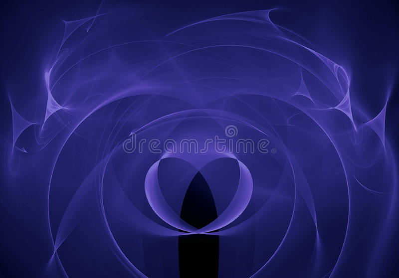 Abstract background with fractal heart. Digital collage. stock photography
