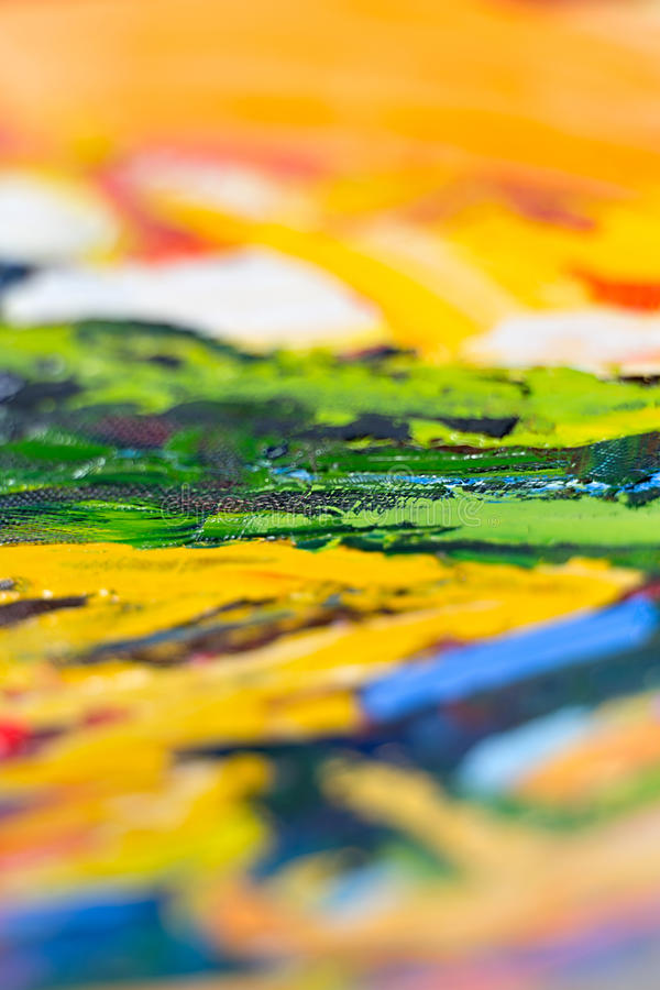 Abstract background. Abstract fragment of my oil painting. Oil on canvas. Bokeh. Vignetting. shallow depth of field royalty free stock photography