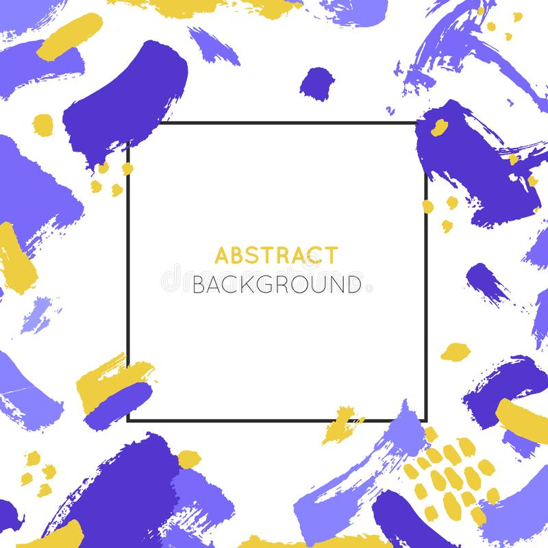 Abstract background and frame with brush strokes made in brush style and copy space for text. stock images