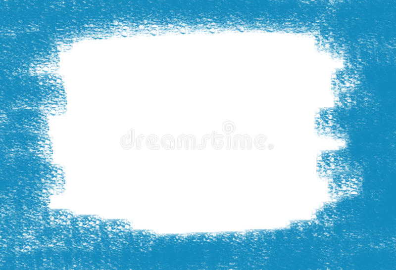 Abstract background frame whitewashed spot on canvas painted blue paint. Of sea canal royalty free illustration