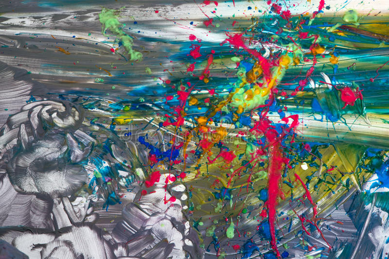 Abstract background of a free-form painting royalty free stock image