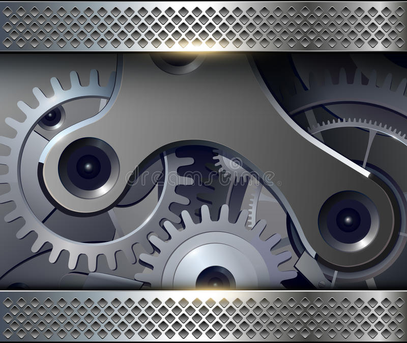 Abstract background with gears vector illustration