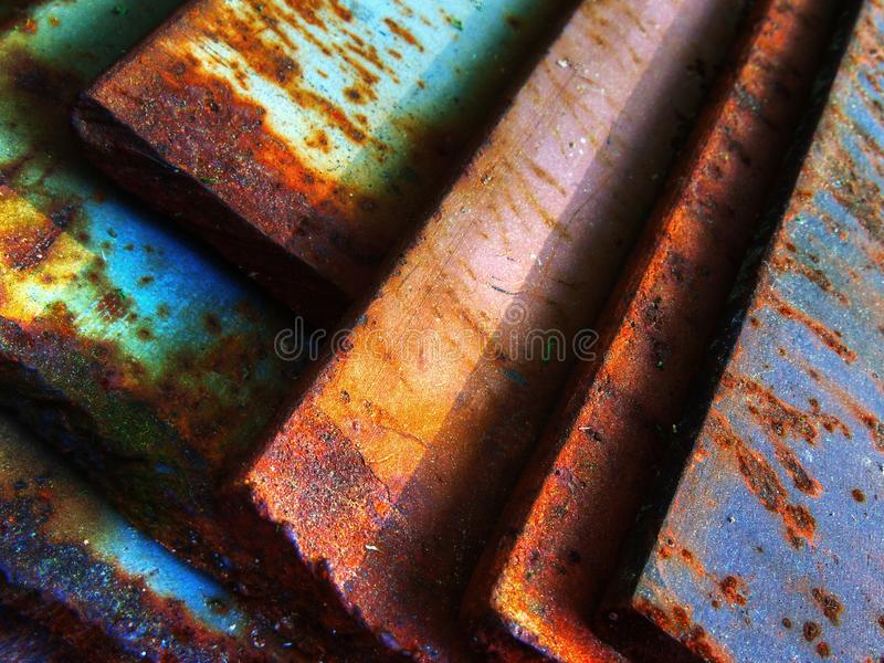 Abstract background geometric design, Rusted metal royalty free stock photos