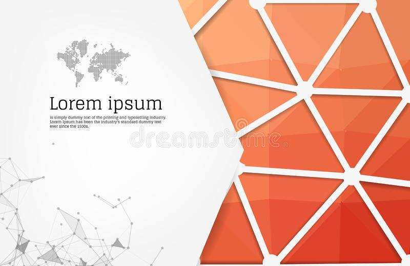 Abstract background with geometric elements. Composition with triangles. Modern banner, message presentations or identity layouts vector illustration