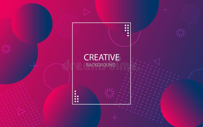 Abstract background with geometric gradient circle. Design abstract pattern with color circles, dots. Fluid modern abstract banner vector illustration