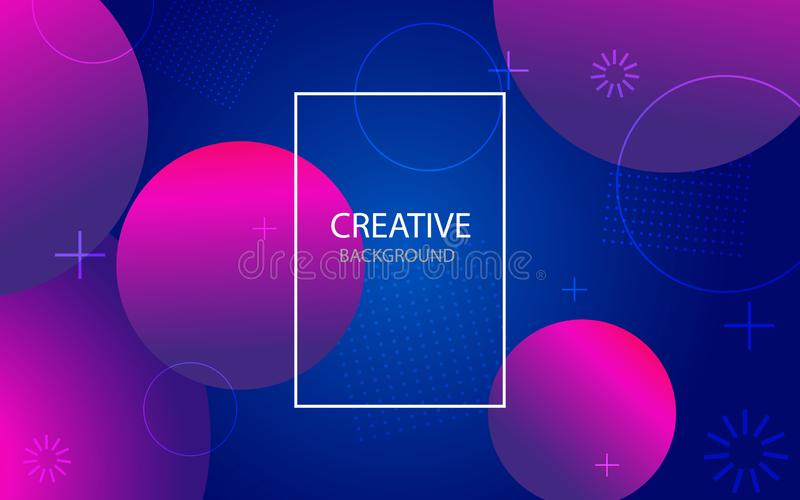 Abstract background with geometric gradient circle. Design abstract pattern with color circles, dots. vector vector illustration