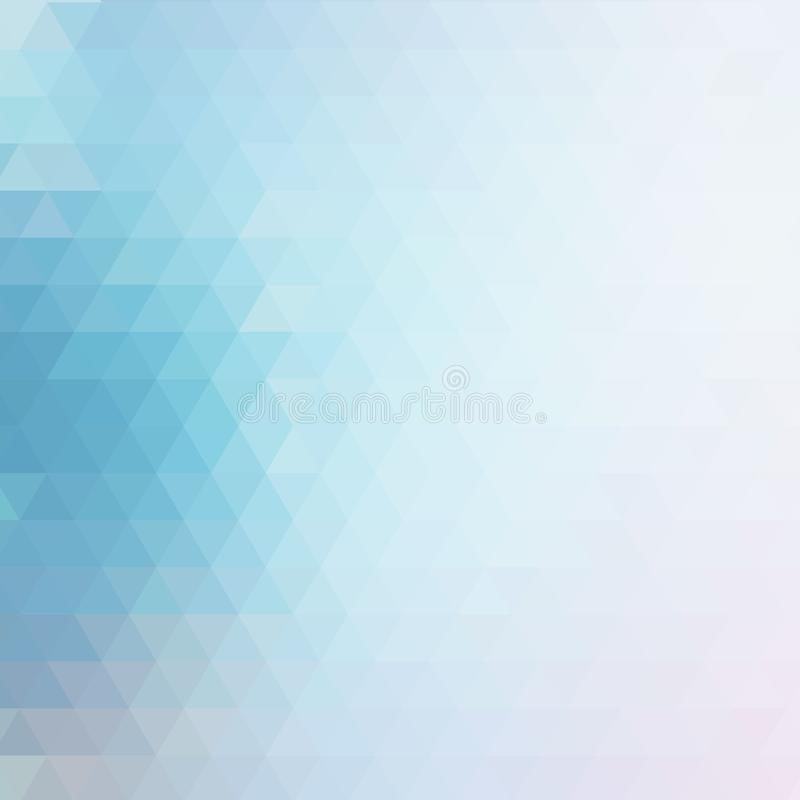 Abstract background with geometric pattern of triangles. Shades of blue. The texture of the surface and edges. royalty free illustration