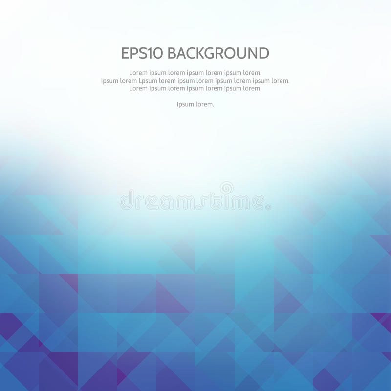 Abstract background with geometric patterns. Shades of blue. White space for text royalty free illustration