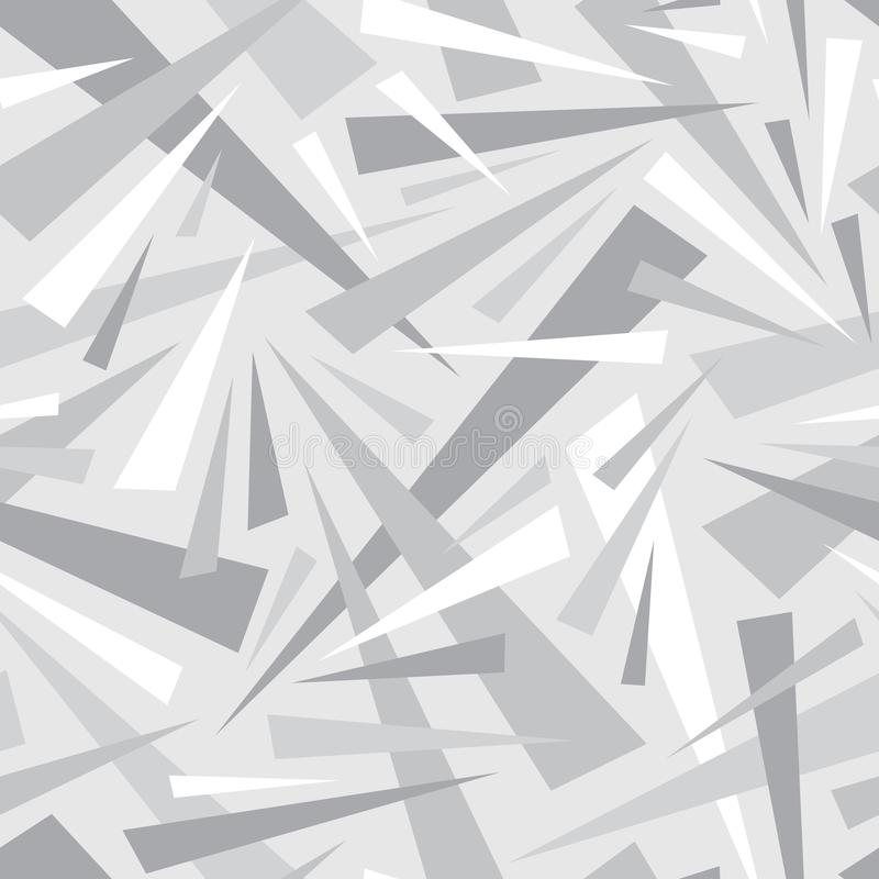Abstract background geometric seamless pattern in gray colors. Decorative mosaic. Triangles ornament. Graphic design. element. stock illustration