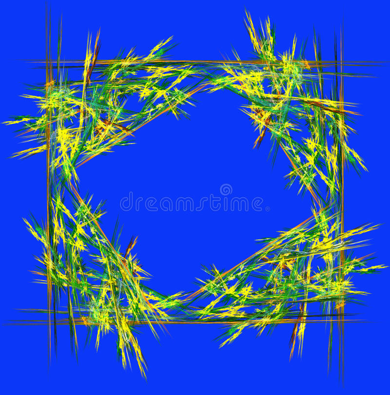 Abstract background in geometric style in green and blue. Computer generated graphics. stock illustration