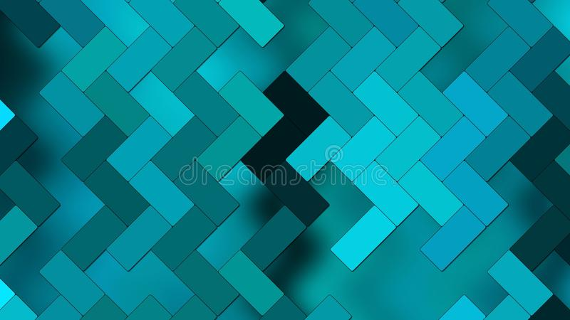 Abstract Background - geometric texture small rectangles - Different shades of blue. An Illustration Abstract Background - geometric texture small rectangles stock illustration