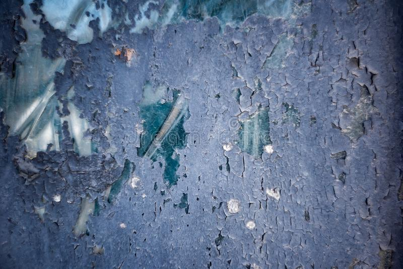 Abstract background of glass painted blue color royalty free stock image