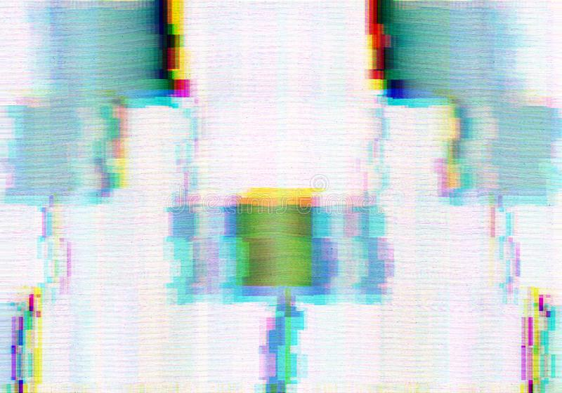 Abstract background with glitch scanlines. Abstract background with colorful glitch scanlines in grungy style vector illustration