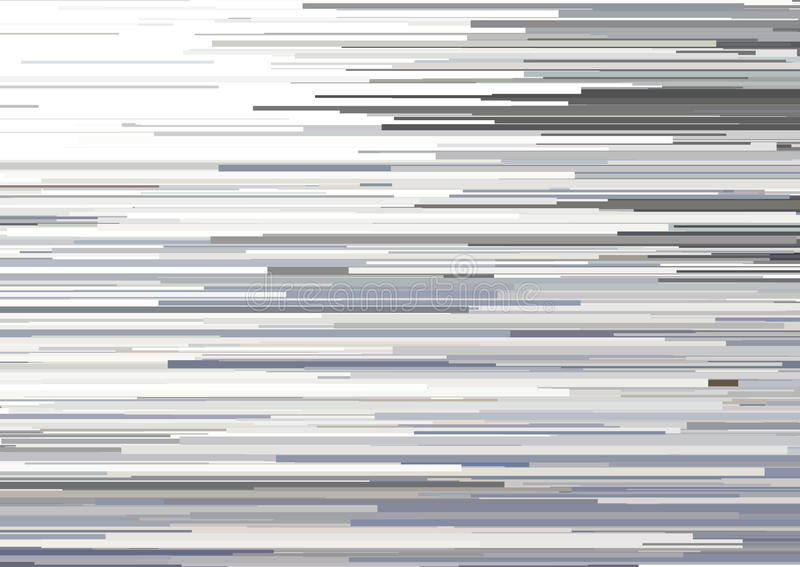Abstract background with glitched horizontal stripes, stream lines. Concept of aesthetics of signal error. royalty free illustration