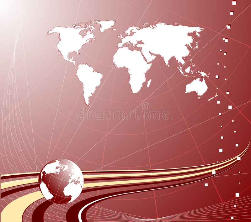 Abstract background with globe stock illustration