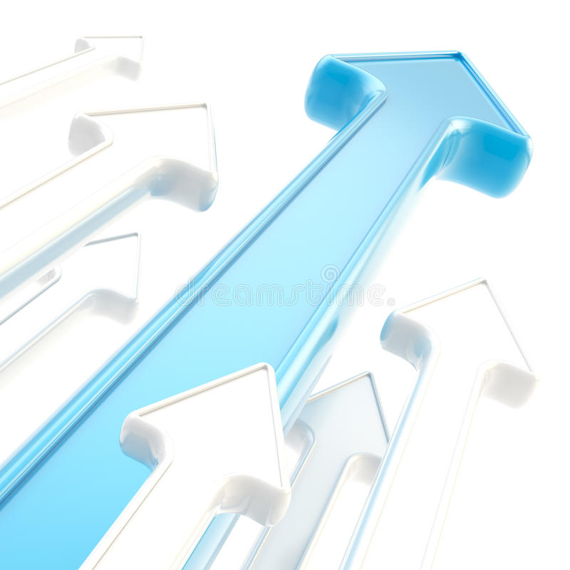 Download Abstract Background Of Glossy Arrows On White Stock Illustration - Image: 24497634