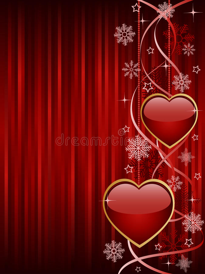 Abstract Background With A Glossy Hearts Royalty Free Stock Photo