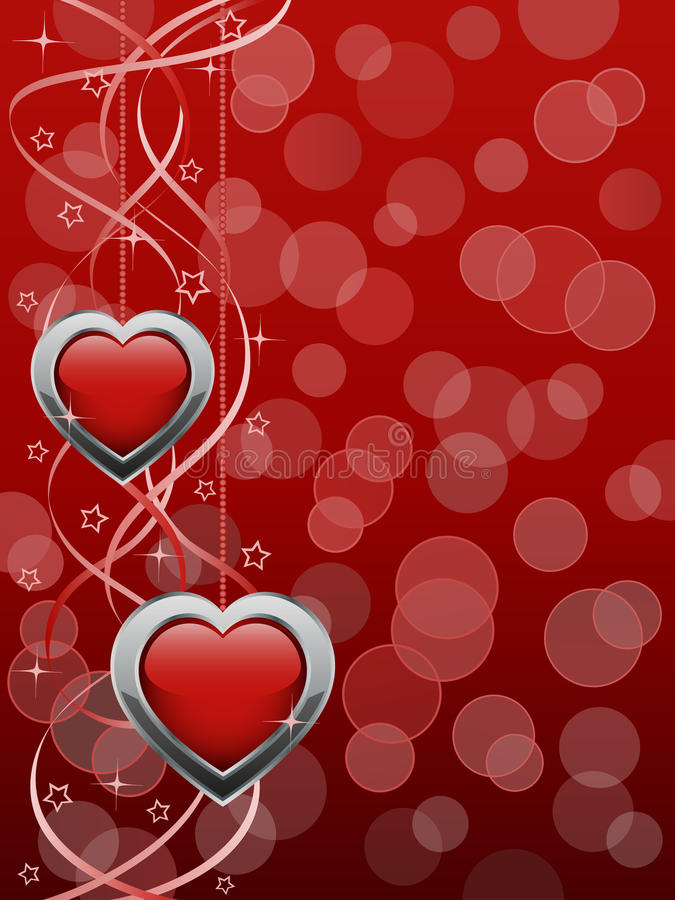 Abstract Background With A Glossy Hearts Stock Photos