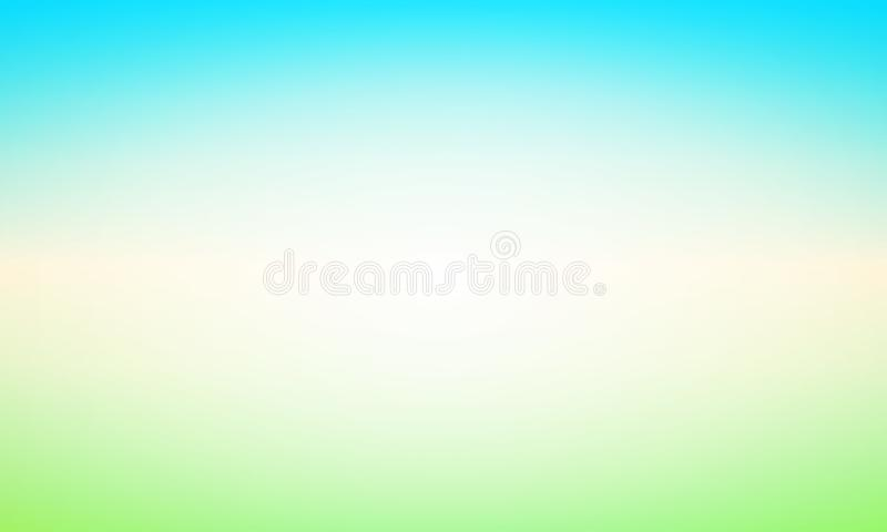 Abstract Background with Glow and Shine - Vector Illustration with Blured Landscape of Clear Day. stock illustration