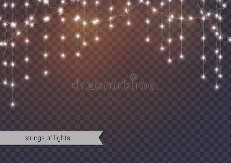 Hanging Strings of Lights stock illustration