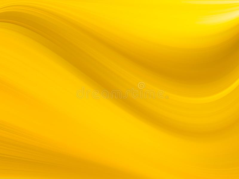 An abstract background with gold colors and a gradated linear wave pattern. Gold vector glossy abstract template. Modern geometrical abstract with gradient. A stock photography