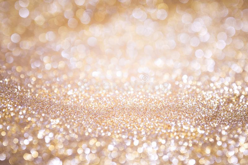Abstract background gold light bokeh christmas holiday stock images
