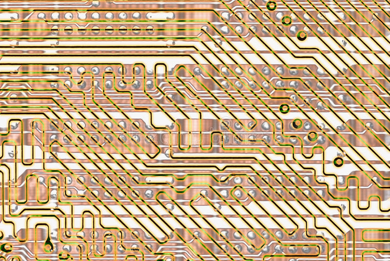 Download Abstract Background - Golden Circuit Board Stock Photos - Image: 13033803