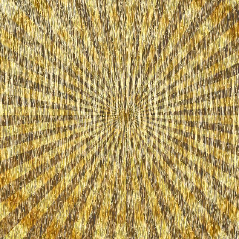 Golden Starburst. stock illustration
