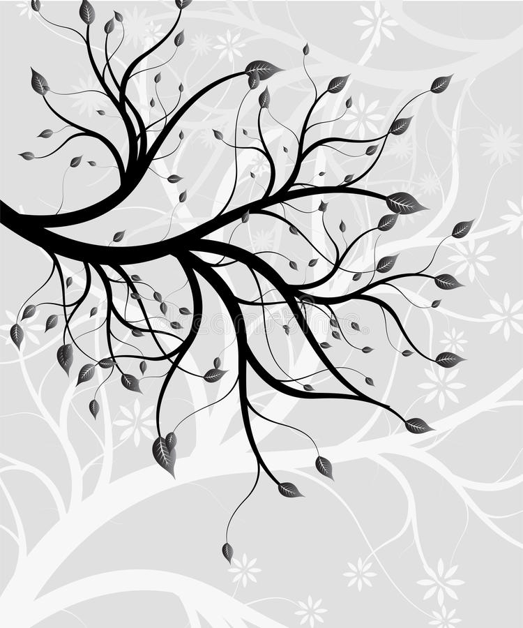 Abstract background - a graceful branch of a tree stock photo