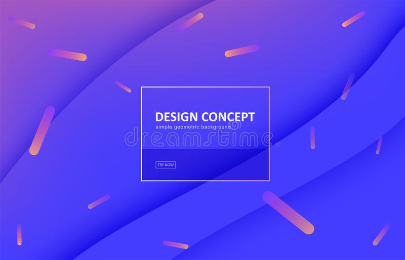 Abstract background, gradient geometric vector design. Graphic pattern in minimal style. Dynamic motion backdrop with royalty free illustration