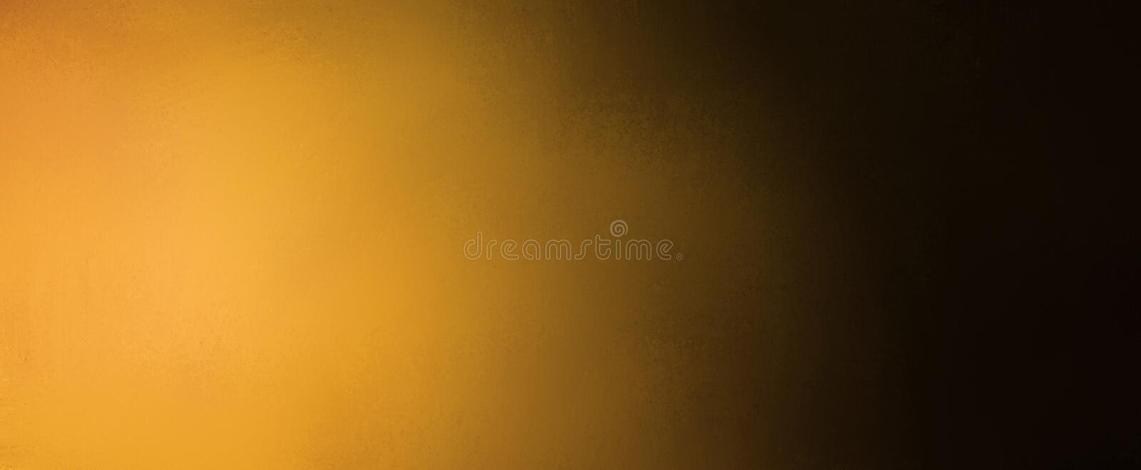 Abstract background with gradient gold and black colors with blurred texture, elegant dark and light background. Design stock illustration