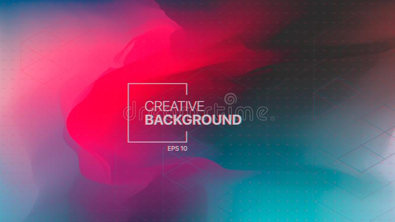 Abstract background with gradient liquid for web backgrounds, advertising posters, covers and brochures. stock illustration