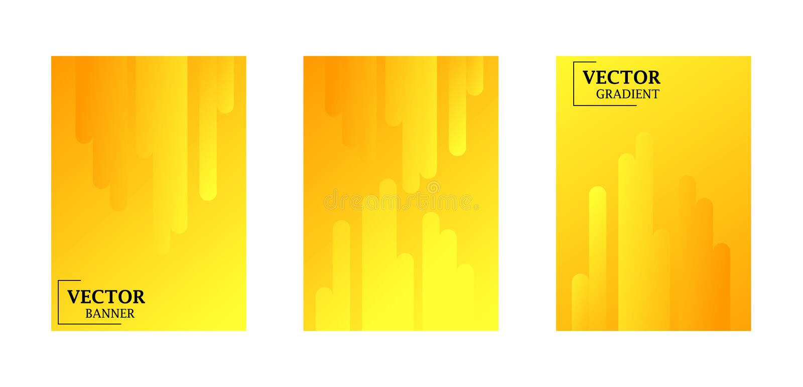 Abstract background with gradient texture, geometric pattern with rounded rectangle stock illustration