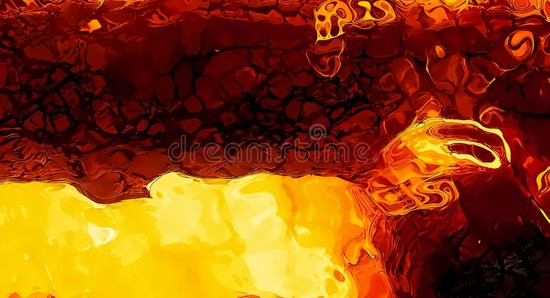 Abstract background graphic, burning fire and flame structures. Abstract background graphic, burning fire and flame structures stock illustration