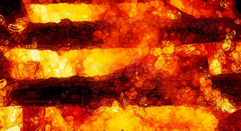 Abstract background graphic, burning fire and flame structures. Abstract background graphic, burning fire and flame structures vector illustration