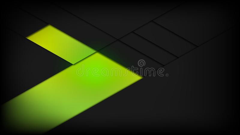 Abstract background green black power gym fitness vector design royalty free illustration