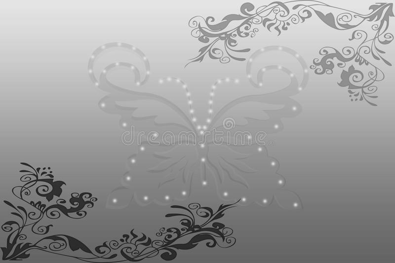 Abstract background of green and butterfly. Beautiful abstract background - Spring Green and butterfly stock illustration