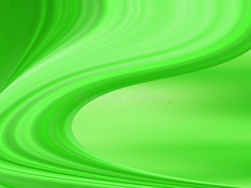 An abstract background with green colors and a gradated linear wave pattern. Green vector glossy abstract template. Modern geometrical abstract with gradient. A royalty free stock photos