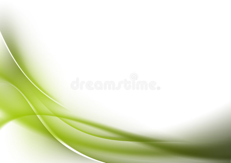 Abstract background green curves stock photos