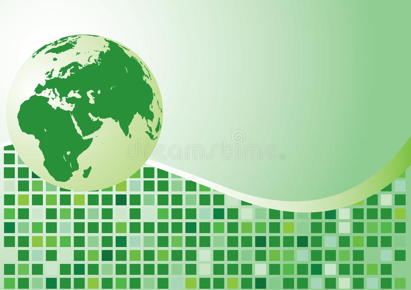 Abstract background. Green globe stock illustration