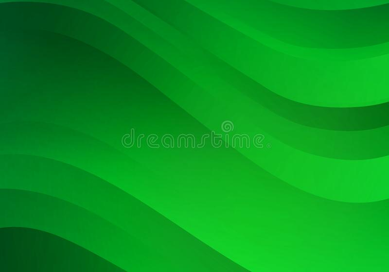 Abstract Background with Green Gradient Waves. Vector Minimal Banner.  stock illustration
