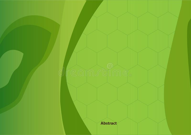Abstract Background Wallpaper Green Honeycomb Presentations royalty free stock images