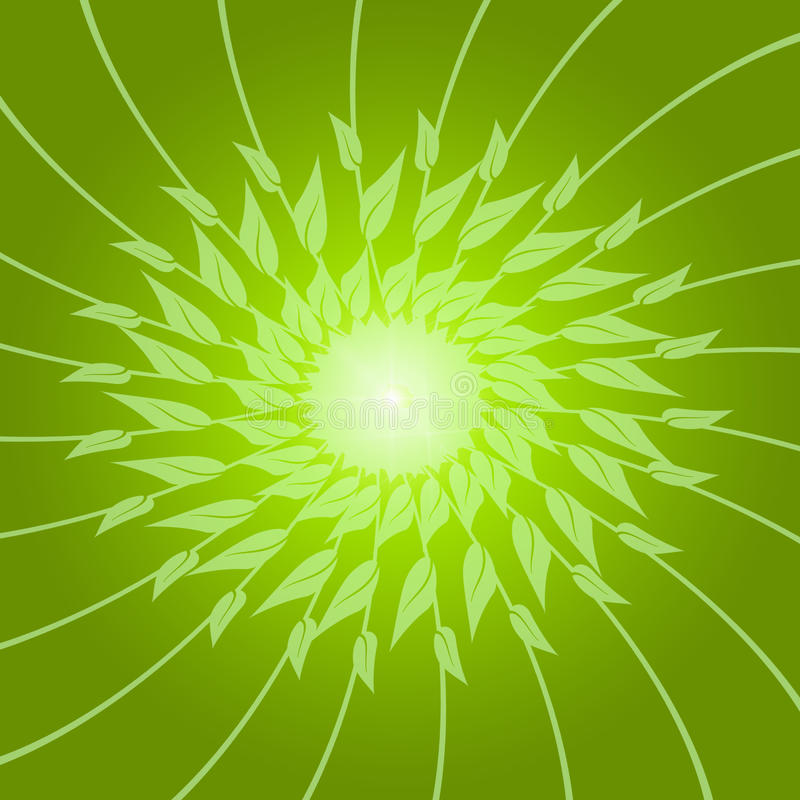 Abstract Background Of Green Leaves Royalty Free Stock Images