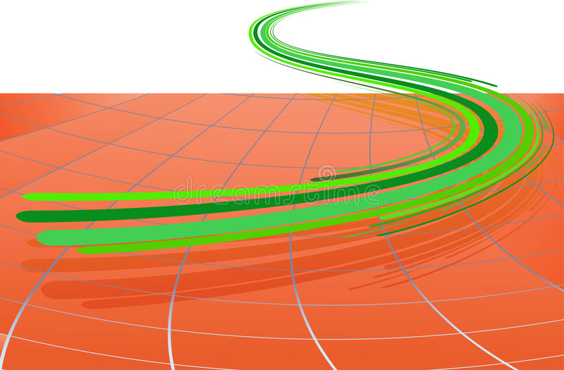 Download Abstract Background With The Green Lines Stock Vector - Image: 7166680