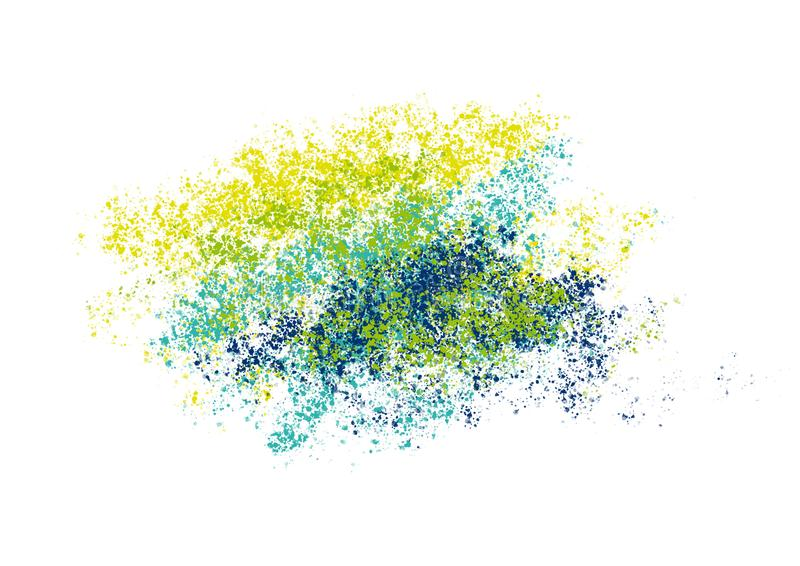 Abstract background with green yellow blue splashes royalty free illustration