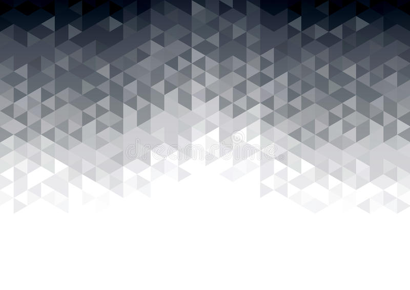 Abstract background with grey glowing triangles stock illustration